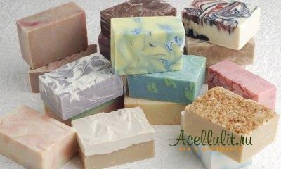 различные формы антицеллюлитного мыла