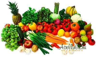 Фруктово-овощная витрина против целлюлита